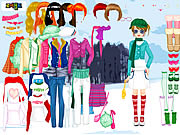 Click to Play Winter Walking Dress Up