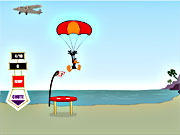 Click to Play Daffy Duck Sky Diving