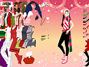 Click to Play Christmas Shopping Dressup