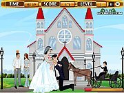 Click to Play Bride and Groom Kissing