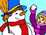Click to Play Coloring Snowmen -1